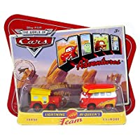 Disney Pixar Cars Mini Adventures SARGE & FILLMORE Lightning Mcqueen's Team