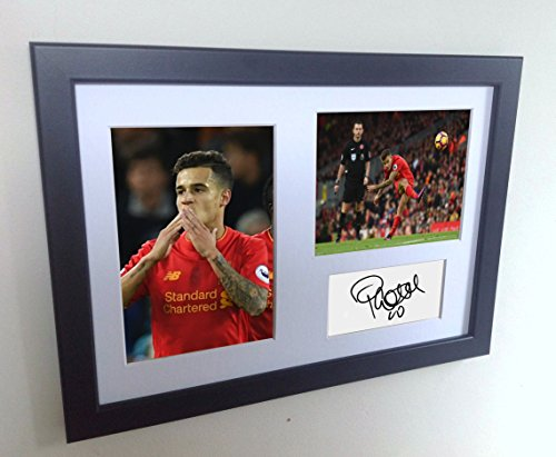 signed-philippe-coutinho-liverpool-autographed-photo-photograph-picture-frame-gift-a4