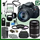 Canon EOS Rebel T5i Digital SLR Camera Kit with 18-135mm STM Lens and Canon 55-250mm Lens + 64GB Green's Camera Package 1