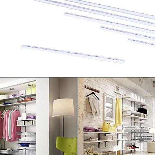 Premium Regalsystem Wandschiene Wandleiste Steckregal einreihig 50cm Regale