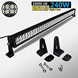 See Wayli 240W 16000LM Led Off Road Light Bar Flood Combo Combo Beam- 80pcs*3w high intensity LEDS Details