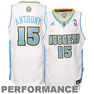 Adidas Denver Nuggets Carmelo Anthony Youth (Sizes 8-20) Revolution 30 Swingman Home... by adidas