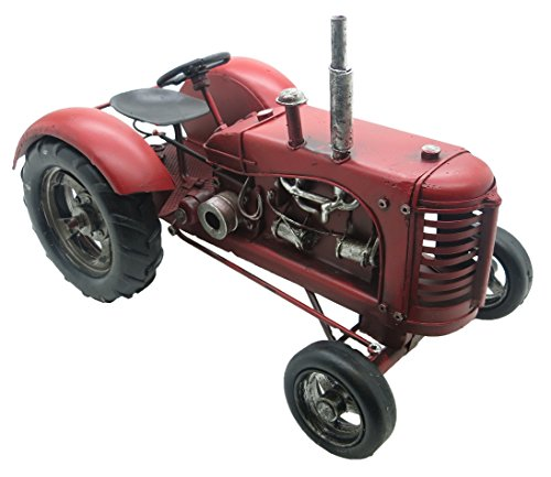 Lesser & Pavey 8-Piece Metal Tractor Collectible, Red