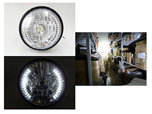 "7"" Motorcycle White 26 Led 20W Cree Halo Headlight Turn Signal For Harley Honda Suzuki Kawasaki Yamaha"