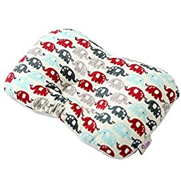 JoJobebe Wine Elephant Baby 3D Mesh Pillow, Newborn Infant Prevent Flat Head, 11.8 X 7.9\