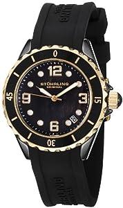Stuhrling Original Women's 954.12M627 Seraph Quartz Date Black Mother-Of-Pearl Dial Watch