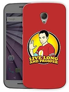 "Live Long And Prosper - Printed Designer Mobile Back Cover For ""Motorola Moto G2"" By Humor Gang (3D, Matte Finish, Premium Quality, Protective Snap On Slim Hard Phone Case, Multi Color)"