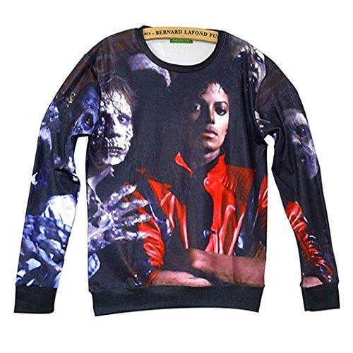 Unisex Hipster Michael Jackson Skull Swag 3D Sweatshirt Hoodies Pullovers (L) (Michael Jackson Outfits)