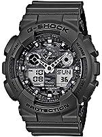 Casio - GA-100CF-8AER - G-Shock - Montre Homme - Quartz Analogique - Digital - Cadran Gris - Bracelet Résine Gris