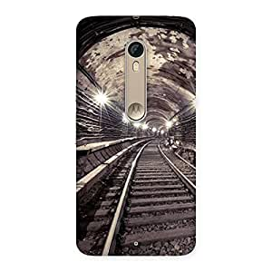 Ajay Enterprises Train Track Back Case Cover for Motorola Moto X Style