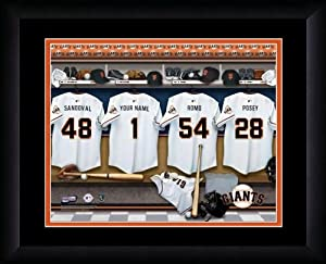MLB Personalized Locker Room Print Black Frame Customized San Francisco Giants by You