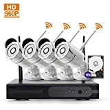 Zgwang HD 960P Smart Wireless Security Cameras- 4 Pack- HD 1.3MP WiFi IP Cameras with Night Vision Easy Remote Access with 1TB HDD,WH13-4N