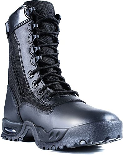 Ridge Footwear Men's Air-Tac Zipper Boot,Black,12