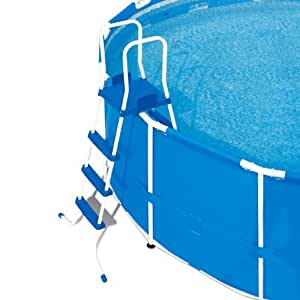 poolleiter 3 stufen und plattform stahlrohrkonstruktion. Black Bedroom Furniture Sets. Home Design Ideas