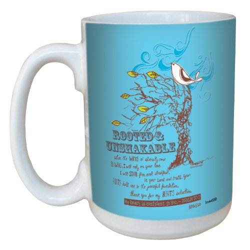 Tree-Free Greetings Lm44330 Rooted: Psalm 57:7 Ceramic Mug With Full-Sized Handle, 15-Ounce