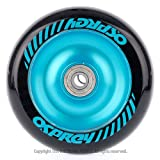 100mm Electric Blue Solid Aluminium Stunt Scooter Wheel Picture
