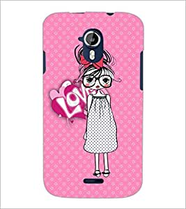 PrintDhaba Specy Girl D-3986 Back Case Cover for MICROMAX A116 CANVAS HD (Multi-Coloured)