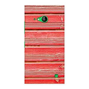 Gorgeous Red Woodlock Print Back Case Cover for Lumia 730