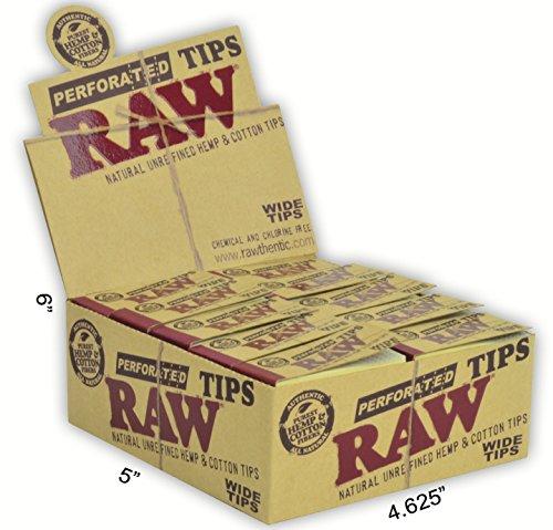 RAW-Natural-Unrefined-Hemp-Cotton-Wide-Tips-50-per-pack