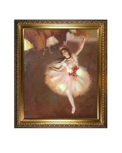 Edgar Degas' Star Dancer (On Stage) Framed Hand Painted Oil On Canvas