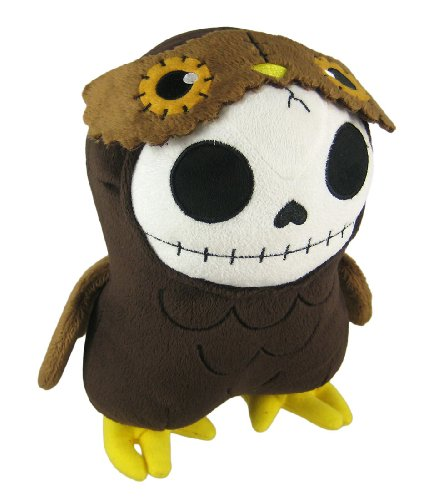 Furry Bones HOOTIE Plush Owl 9 Inch Skull
