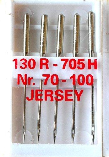 5 Nähmaschinennadeln Jersey Flachkolben 130R/705H für Nähmaschine