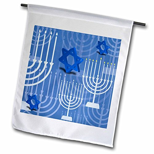3drose Fl 37297 1 Passover With Blue Menorahs And Stars