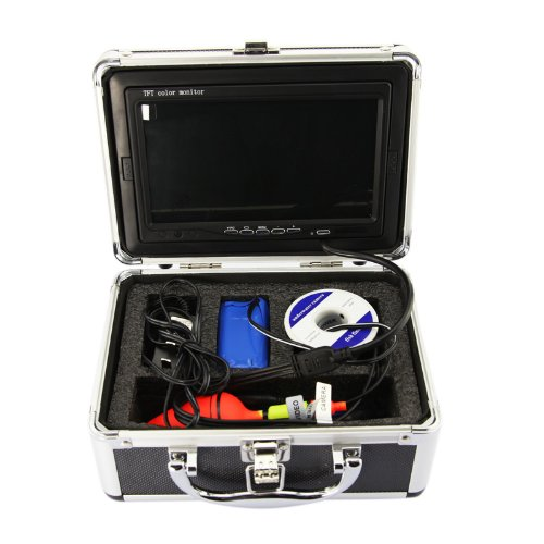 Buys 7 color lcd hd underwater video camera system 600tv for Fishing line camera