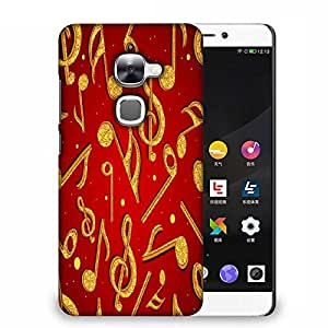 Snoogg Golden Music Designer Protective Phone Back Case Cover For Samsung Galaxy J1