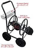 Mobile Garden Hose Reel Cart up to 225' X 5/8