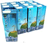 O.N.E. 100% Natural Coconut Water, 33.8 Ounce Boxes (Pack of 12)
