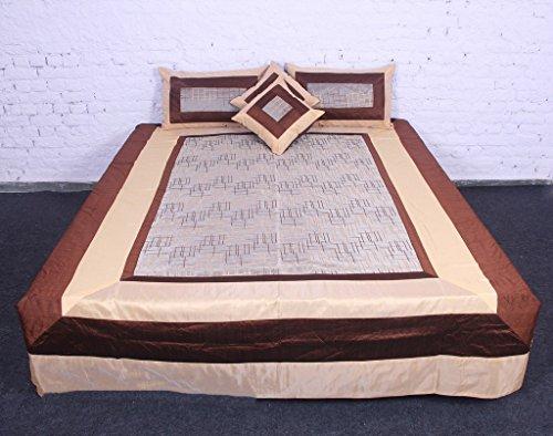 jth Stunning Floral Art indiano 5pc Set di biancheria da letto, cum Royal Arredo Casa Letto Cover