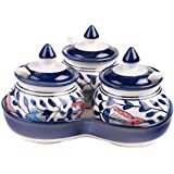 Craftghar Pickle Chutney 3 Jar Set With Spoons Kitchen Storage & Containers