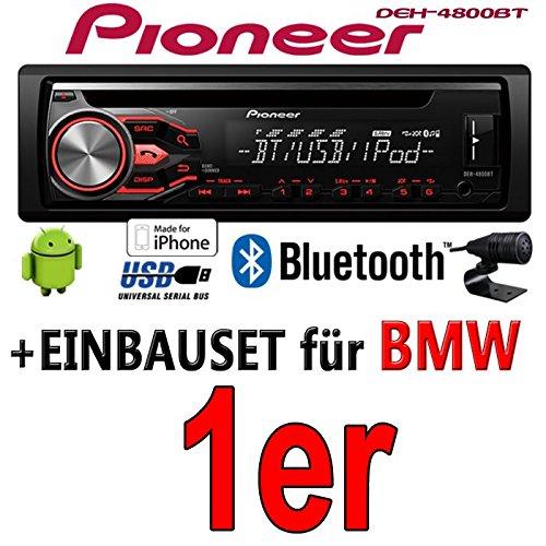 BMW 1er - Pioneer DEH-4800BT - CD/MP3/USB Bluetooth Autoradio - Einbauset