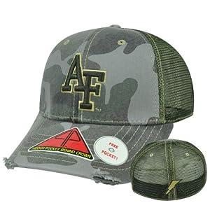 NCAA Air Force Falcons Deliverance Pro Pocket Camouflage Flex Fit Hat Cap M/L