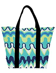 Snoogg Droplets Best Aztec Womens Large Shoulder Tote Bag