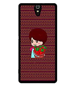 Fuson 2D Printed Girly Designer back case cover for Sony Xperia C5 - D4328