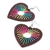 Heart Drop Pierced Fashion Earrings Multi