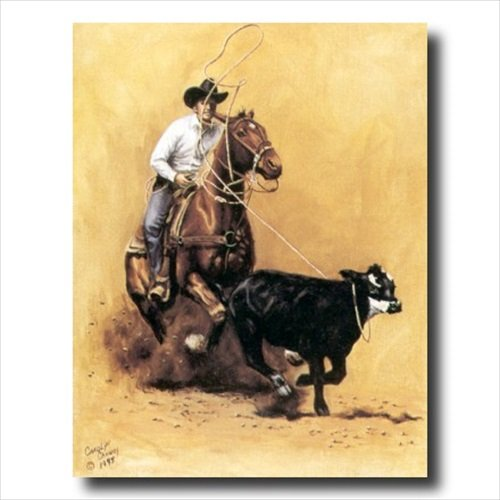 Rodeo Cowboy Calf Roping Western Animal Wall Picture 16x20 Art Print (Rodeo Pictures compare prices)