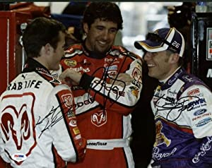 KASEY KAHNE, JAMIE MCMURRAY & ELLIOTT SADLER NASCAR SIGNED AUTHENTIC 11X14 PHOTO... by Press Pass Collectibles