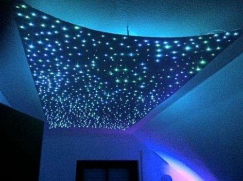 Amzdeal® luci RGB led stelle a 240 pezzi fibre di vetro leggero 5W con telecomando wireless per cambiare 16 colori ,con funzione di memoria