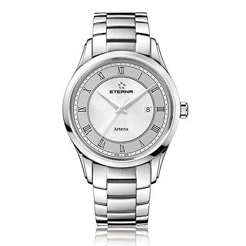 Eterna 2520.41.55.0274 - Reloj de pulsera hombre, acero inoxidable, color plateado