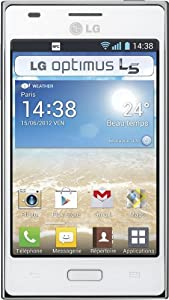 LG Optimus L5 Smartphone GSM/EDGE/UMTS/HSDPA Bluetooth Android 4.0 Mémoire interne 2,9 Go Wifi GPS Blanc