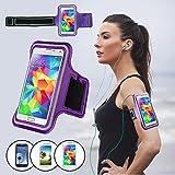 """SAVFY® """"Promotion"""" Violet Brassard Armband Sport pour Samsung Galaxy S3/S4/S5 / GT-i9300/i9500/i9600 pour le Jogging / Gym / Sport - confortable avec sangle réglable"""