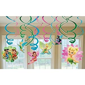 Disney Fairies Hanging Swirl Value Pack (Green/Pink) Party Accessory by AMSCAN *