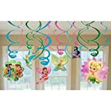 Disney Fairies Hanging Swirl Value Pack (Green/Pink) Party Accessory