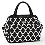 Signature Collection Sydney Ladies' Insulated Satchel/Doctor's Bag - Black & White Ikat Tile