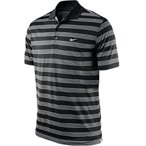 Nike Tech Core Stripe Mens Polo Shirt S Black