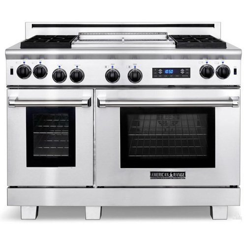 American-Range Medallion Series 48 In. Stainless Steel Dual Fuel Range - Arr484Gdgrdfn