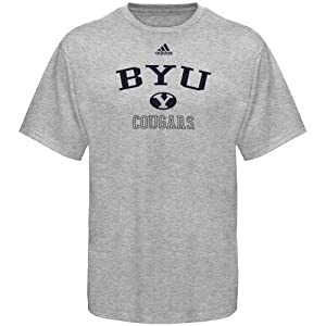 Buy adidas Brigham Young Cougars Ash Practice T-shirt by adidas